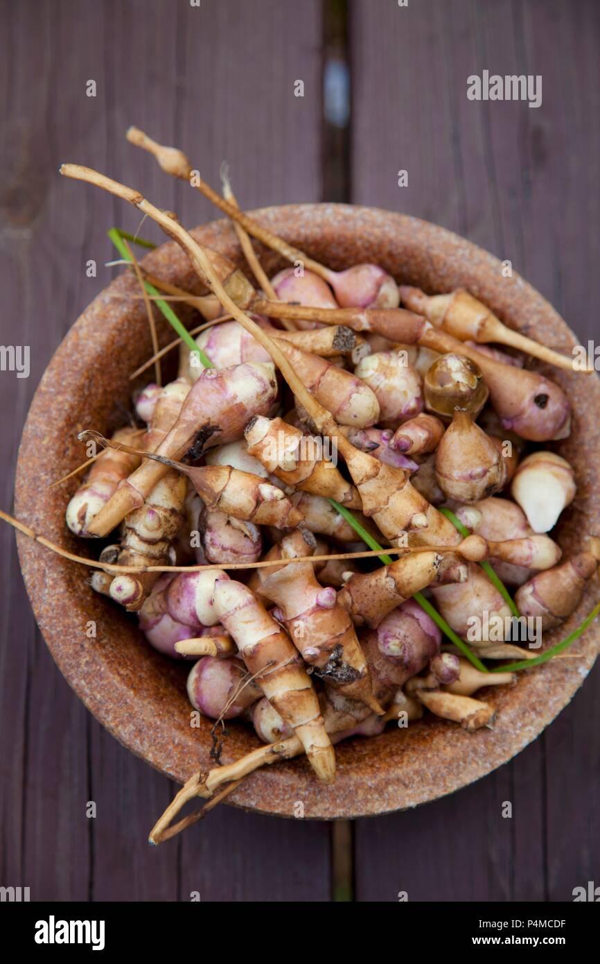 Un tazón de la pataca (visto desde arriba) Imagen De Stock