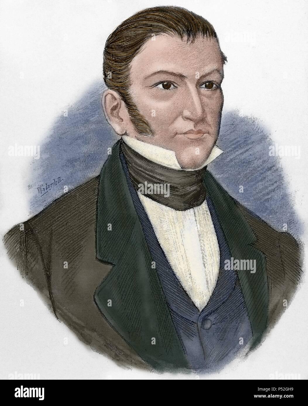 Nicolás Bravo 1786 1854 Político Mexicano Y Soldado