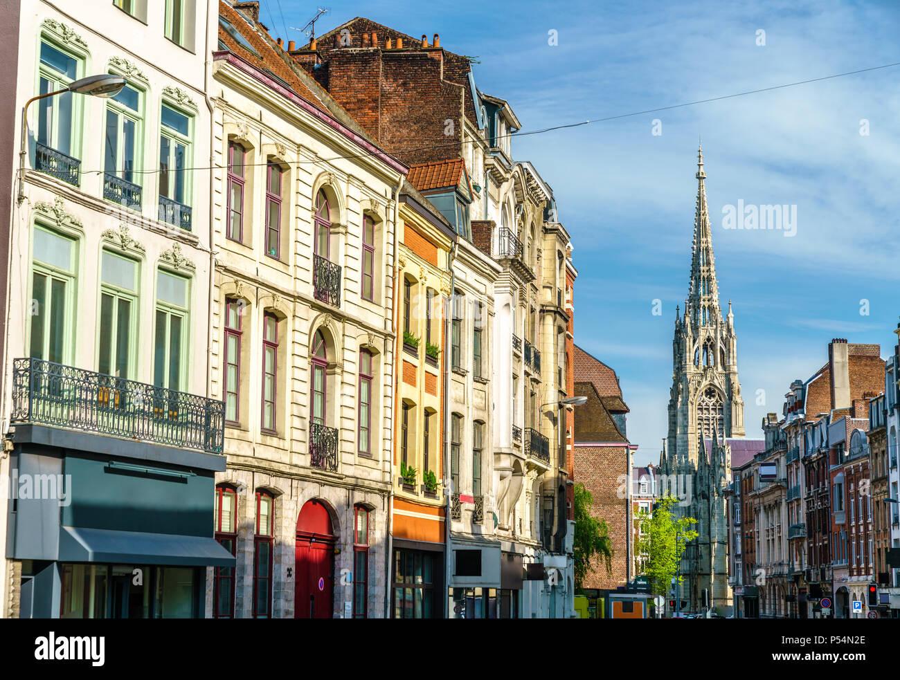Los edificios tradicionales en el casco antiguo de Lille, Francia Imagen De Stock