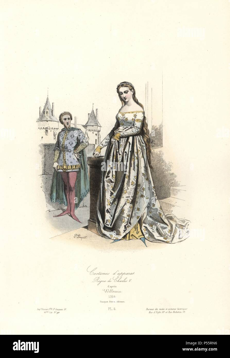 Historical Drawing From The 19th Century Imágenes De Stock ...