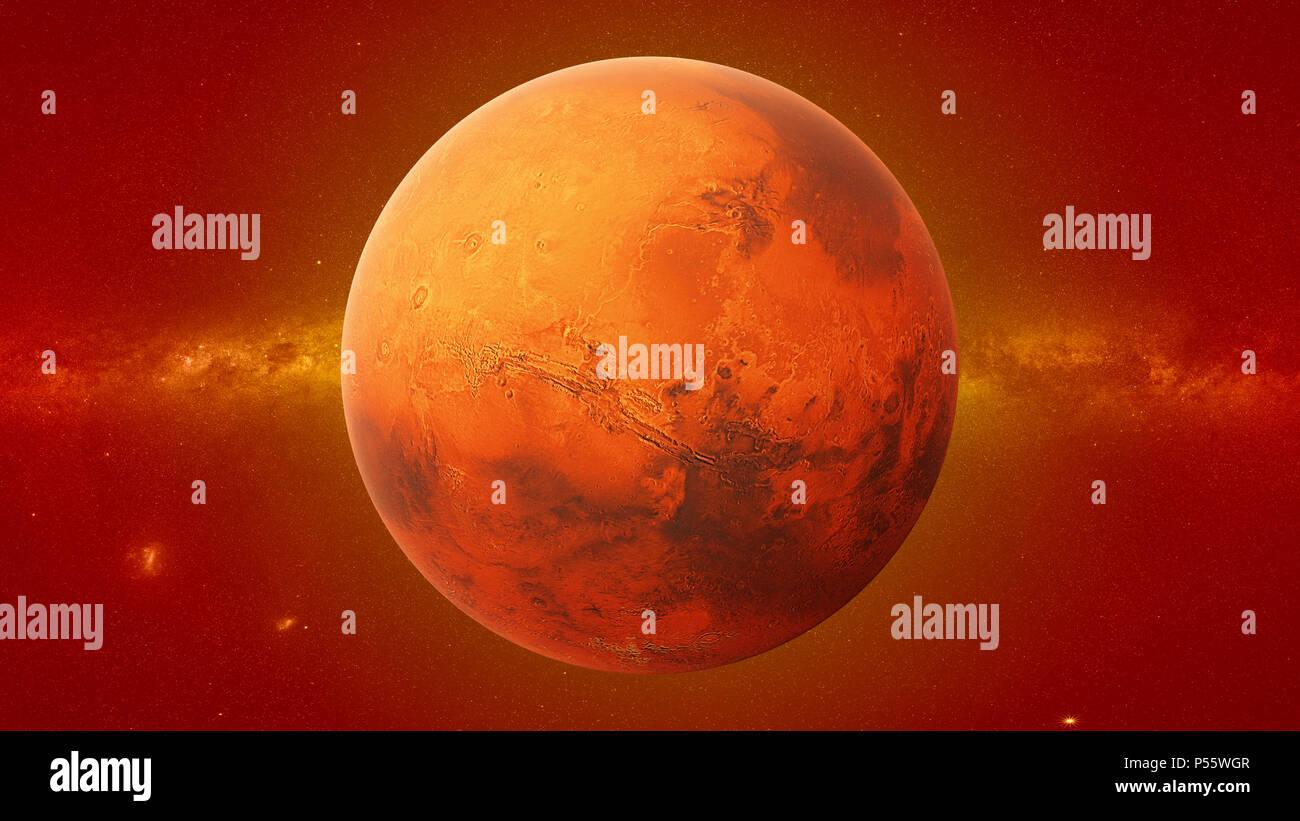Planeta Marte, el cuarto planeta desde el Sol, el planeta ...