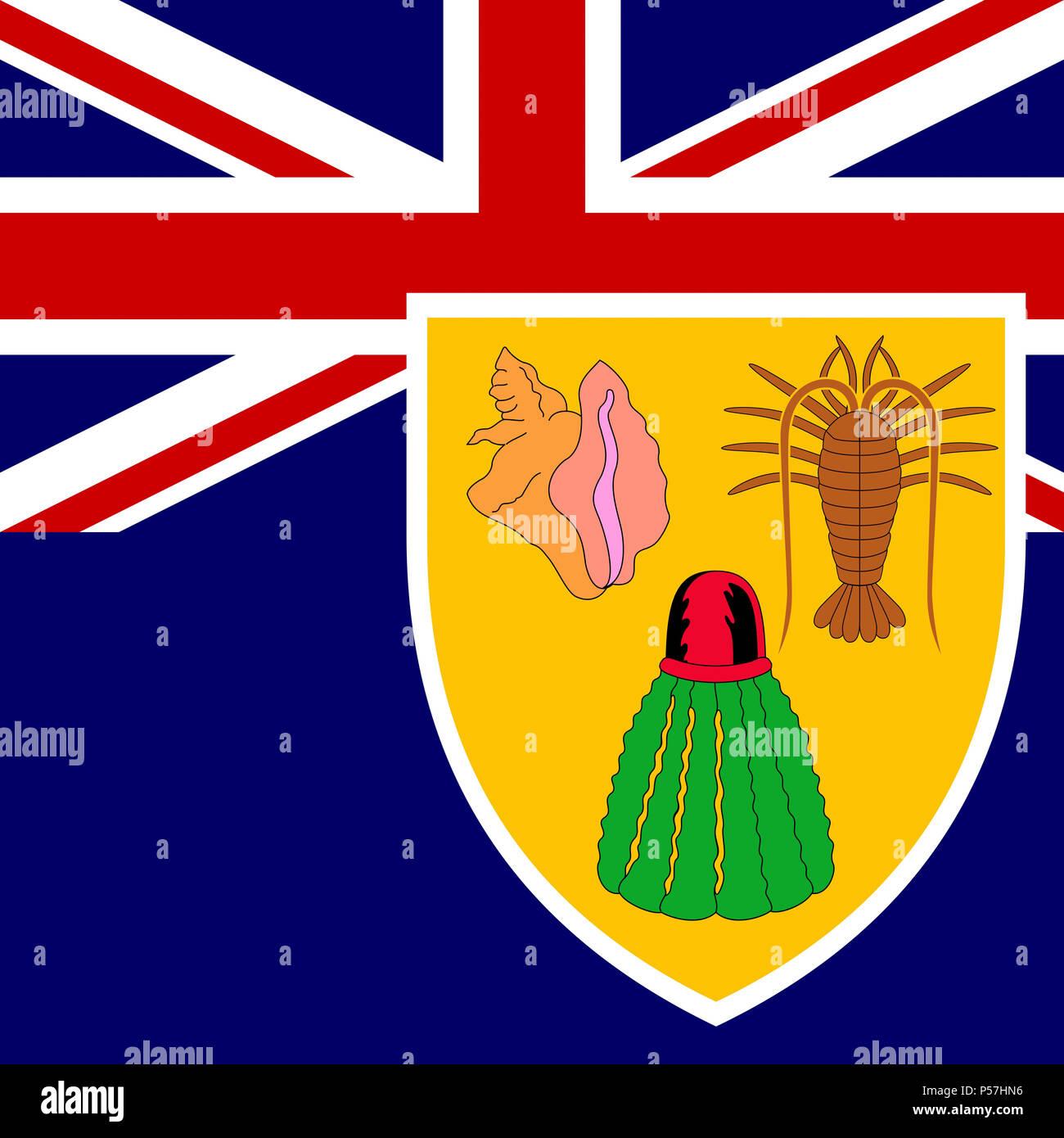 La Bandera Nacional Oficial De Las Islas Turcas Y Caicos
