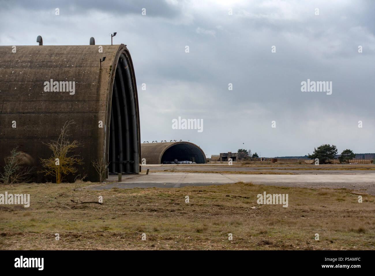 Antigua base aérea de la guerra fría Imagen De Stock