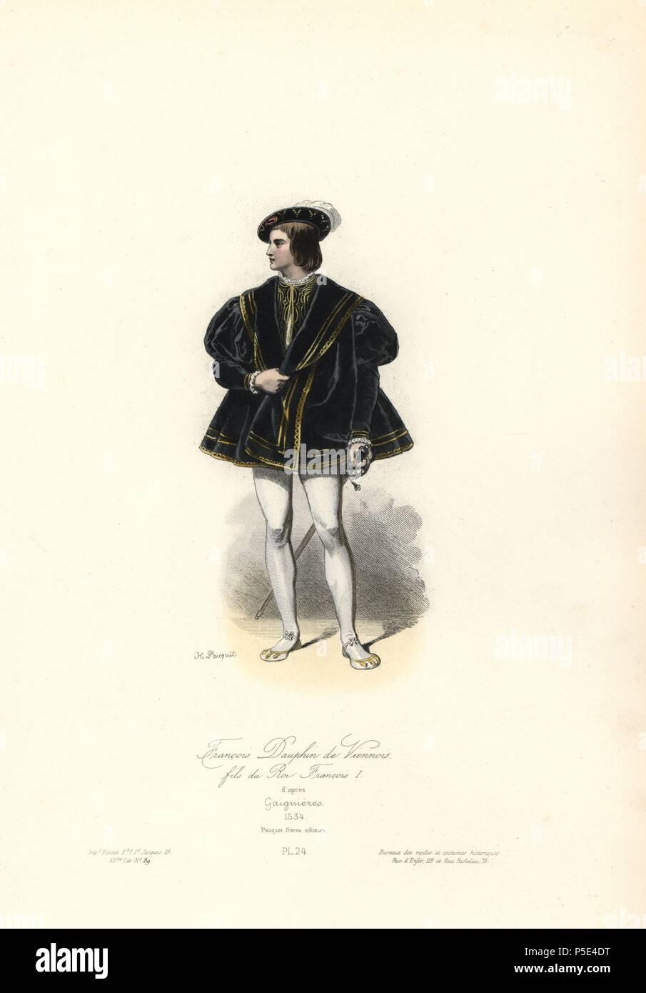 Francois (1518-1536), delfín de Viennois, hijo del rey Francisco I ...