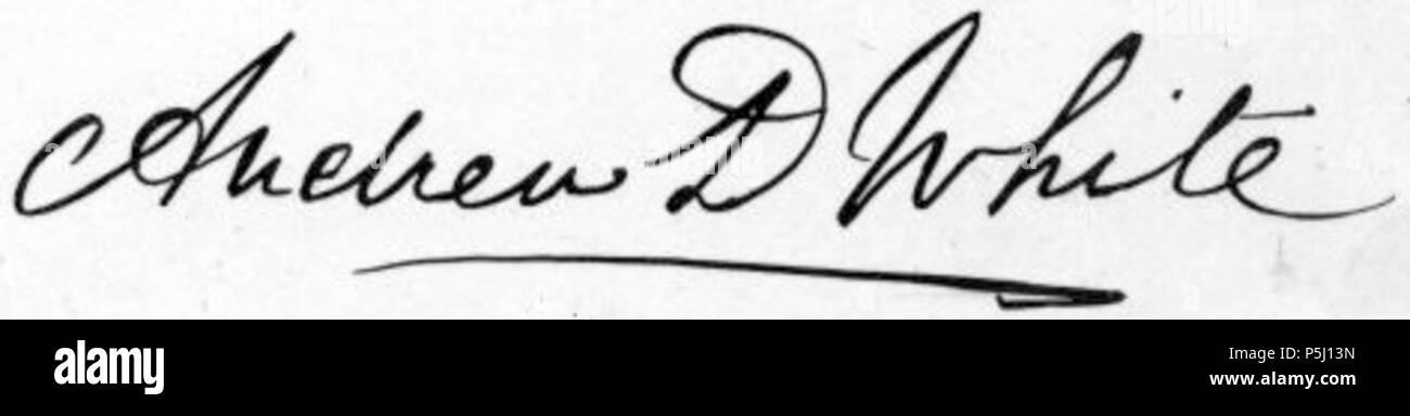 N A Ingles Firma De Andrew Dickson White Que Murio En 1918