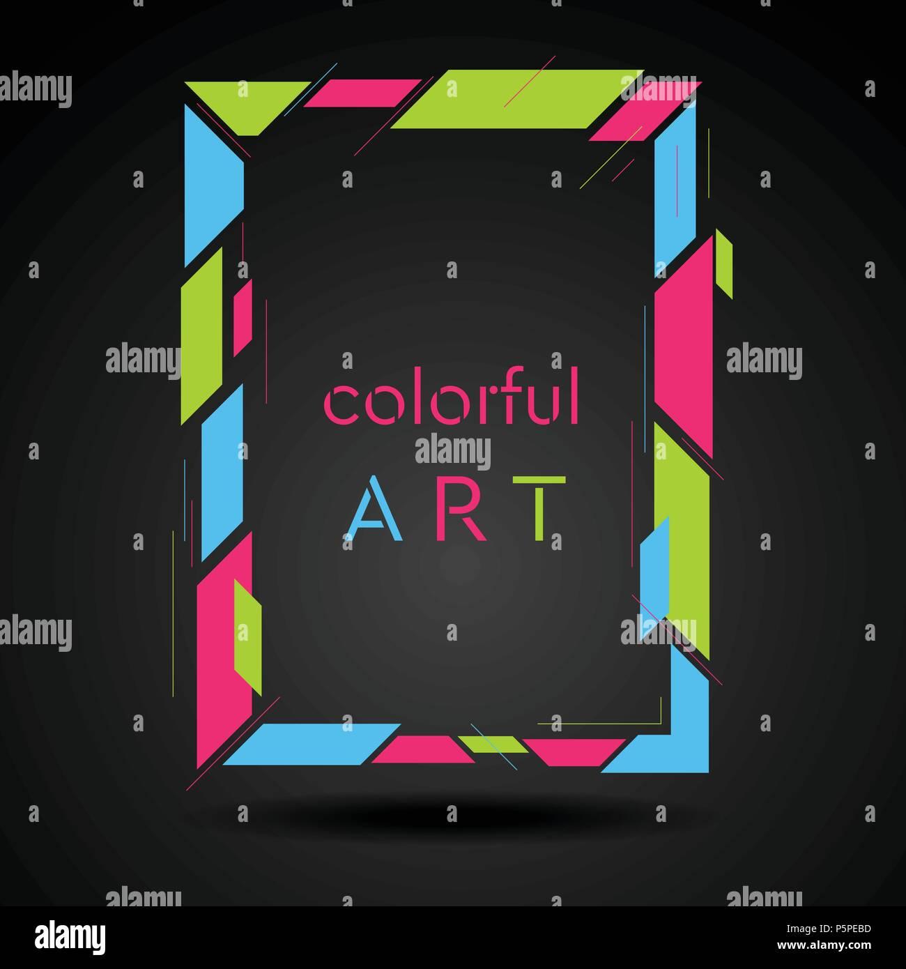 Colorido Estilo Hipster Geométrica Abstracta Del Bastidor Para La