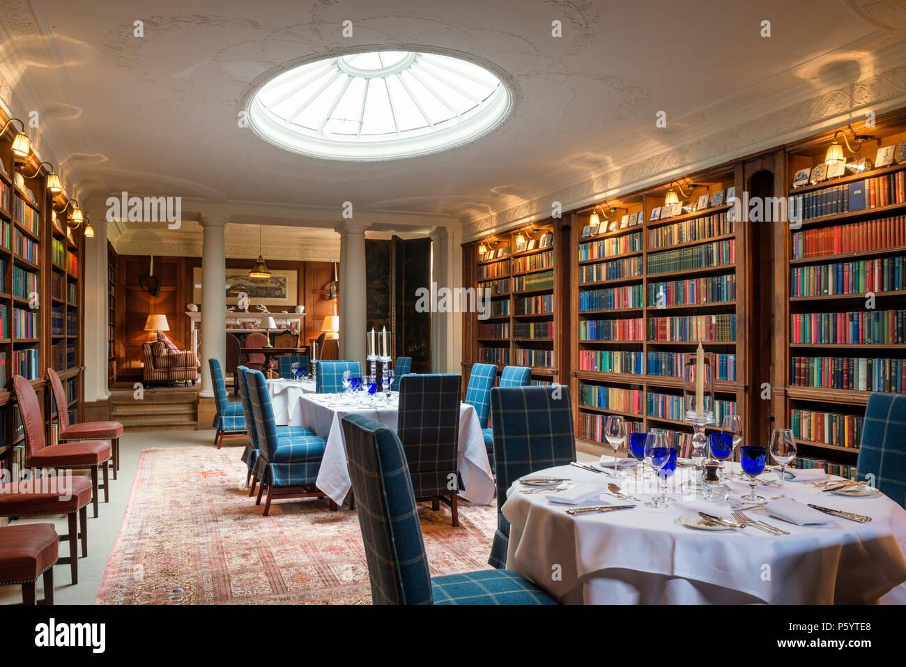Comedor con librerías y dome Foto & Imagen De Stock ...