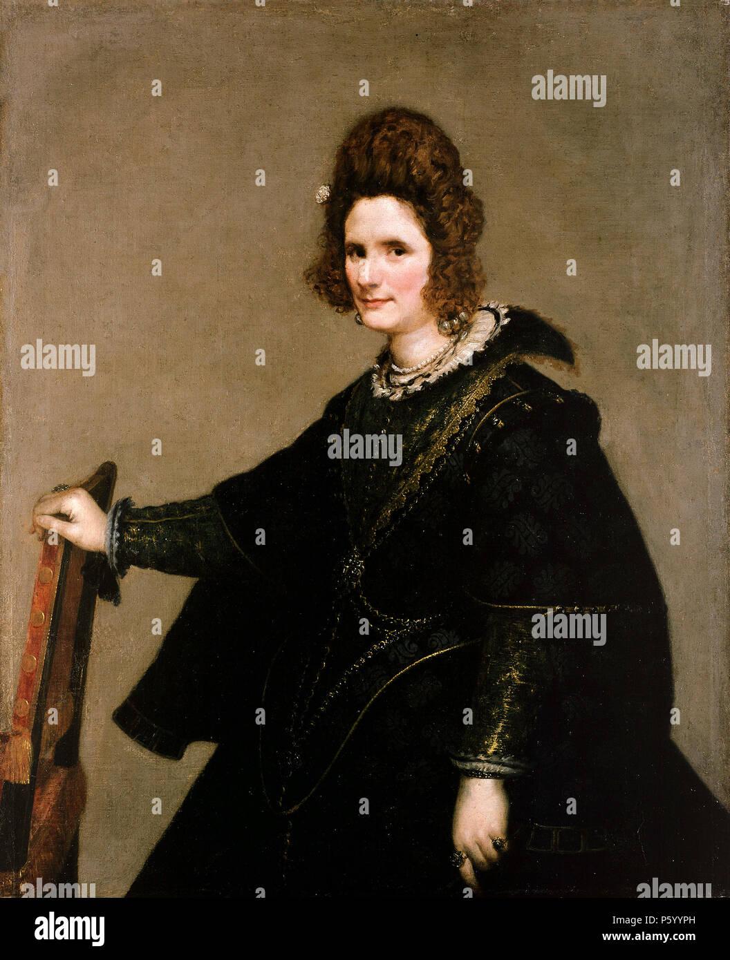 Dama de corte, 1635 por Diego Velázquez Imagen De Stock