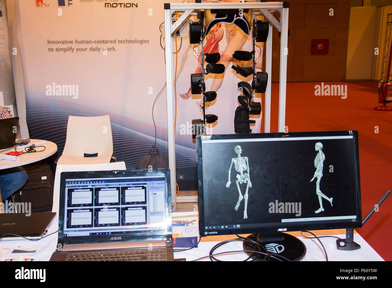 Tech MCS Software mediante captura de movimientos para la empresa Technaid. GR-EX (Cumbre Mundial Expo del robot). Imagen De Stock