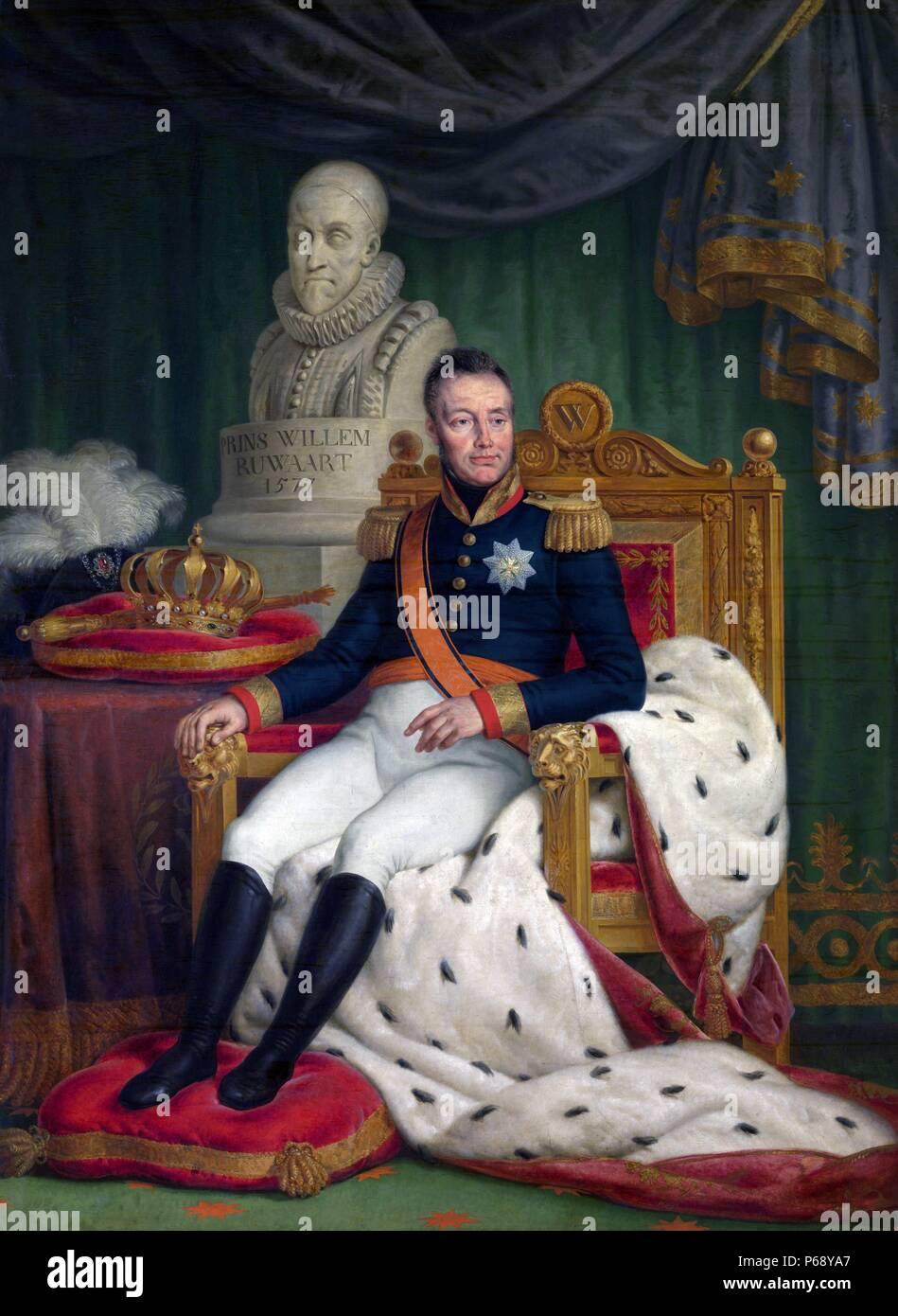 Retrato de Guillermo I (1772-1843), Rey de los Países Bajos y el Príncipe de Orange. Fecha 1827 Imagen De Stock