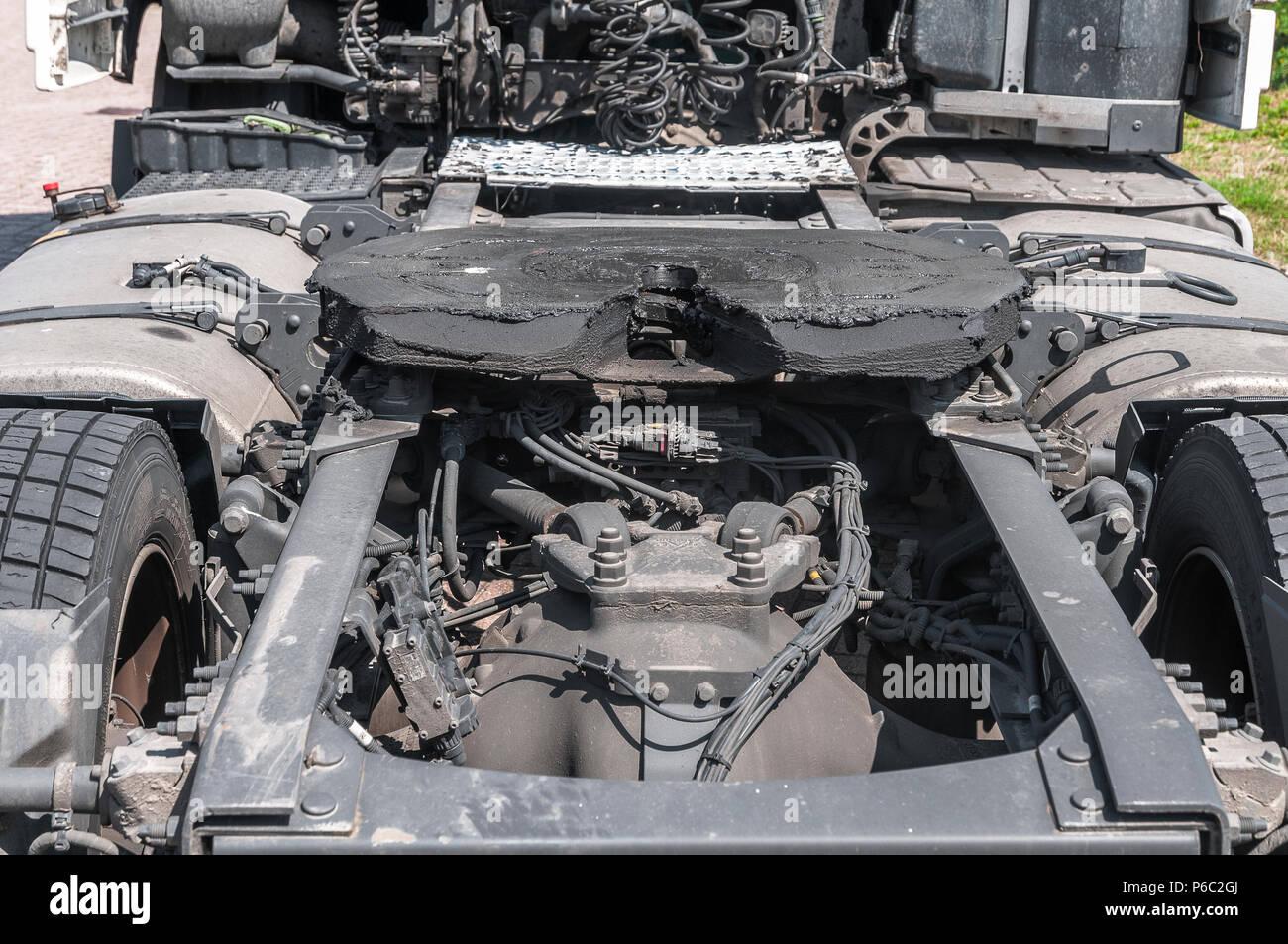 Semi-Remolque de un camión Foto de stock