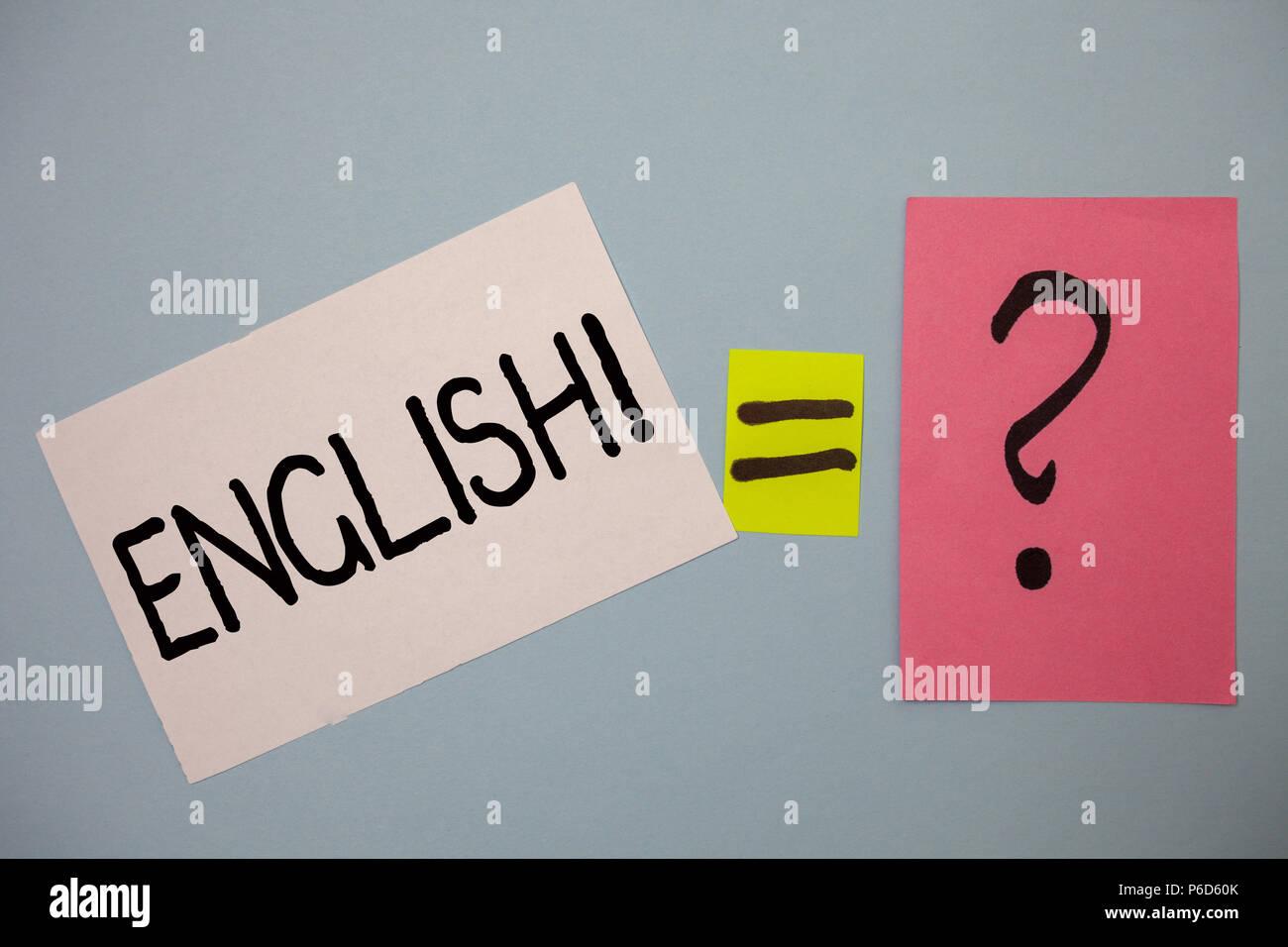 Escritura De Texto Word Inglés Llamada Motivacional