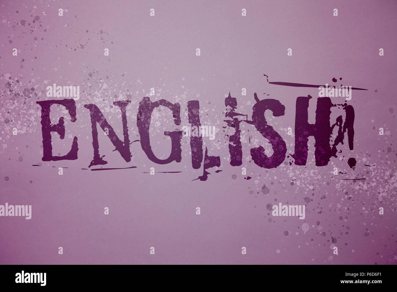 Escritura A Mano Conceptual Mostrando Inglés Llamada