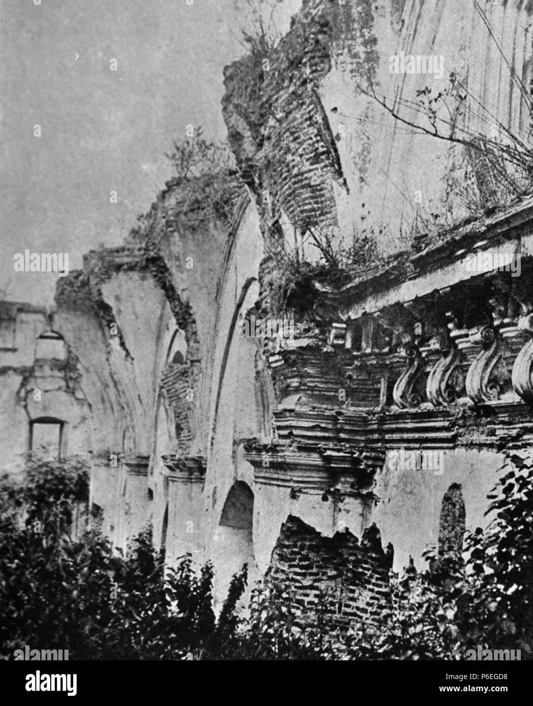 Español: Ruinas de la Iglesia de la Concepción en La Antigua Guatemala en 1897. 1897 11 Concepcion 1897 Foto de stock