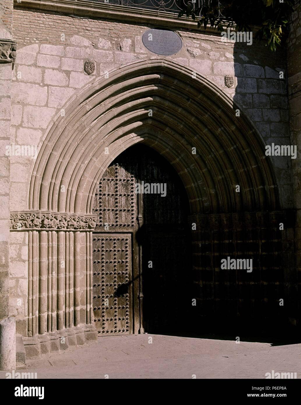 PORTADA. Ubicación: Iglesia colegial DE SANTA MARÍA LA MAYOR, TOLEDO, España. Imagen De Stock