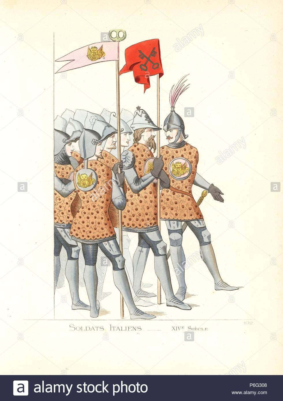 Los uniformes de los soldados italianos, siglo 14. El desgaste ...