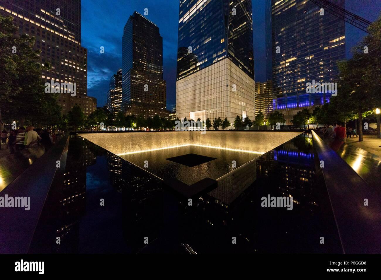 9/11 Memorial. World Trade Center. La Ciudad de Nueva York, EE.UU. Imagen De Stock