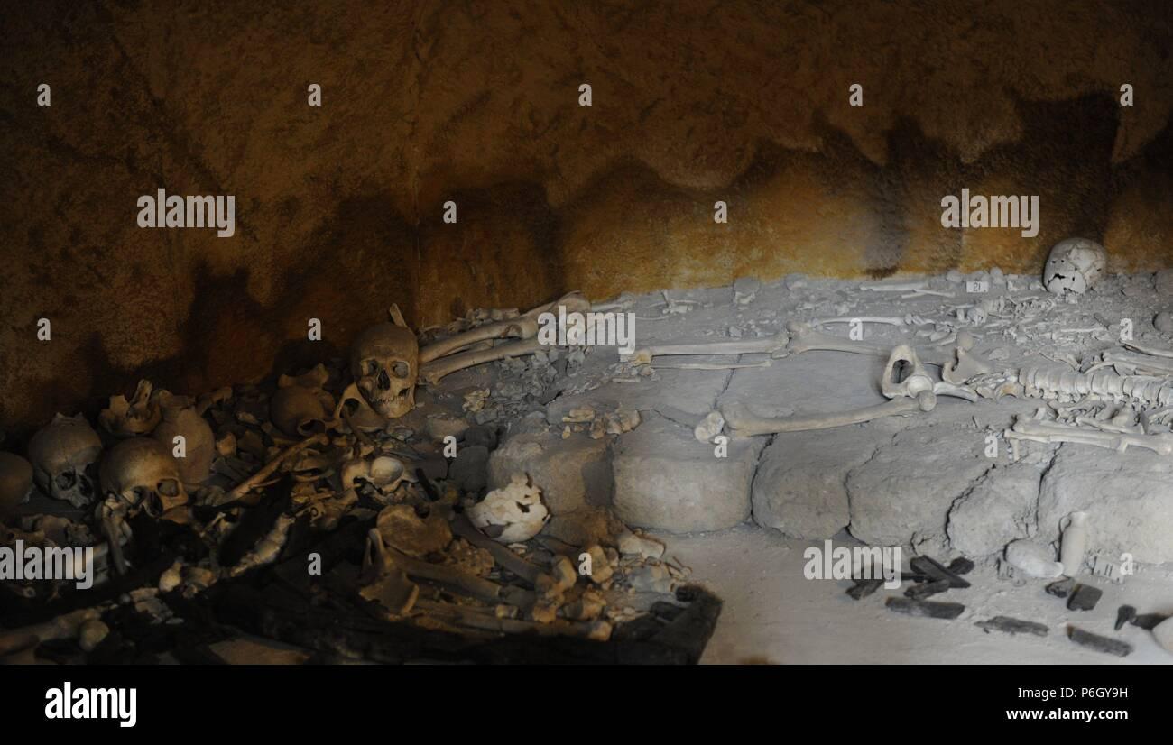 Jericó. Los hicsos tumba. 1700-1600 BC. Período de los hicsos. Oriente la Edad de Bronce. Museo Arqueológico Rockefeller. Jerusalén. Israel. Foto de stock