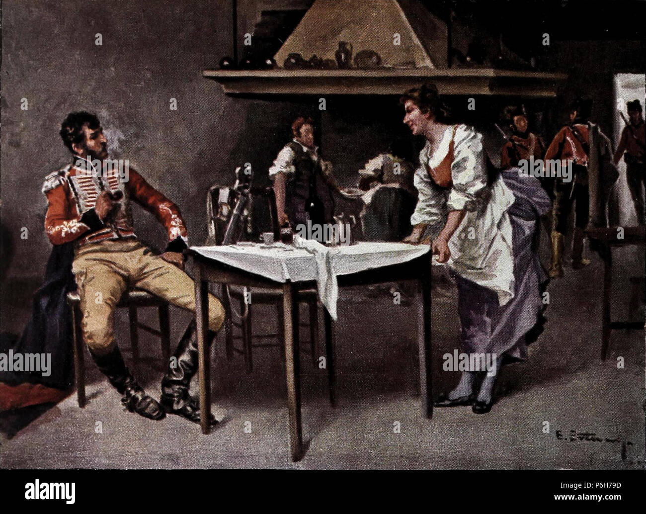 1905-07-08, Blanco y Negro, La hija del tío Malgenio, Estevan. Imagen De Stock