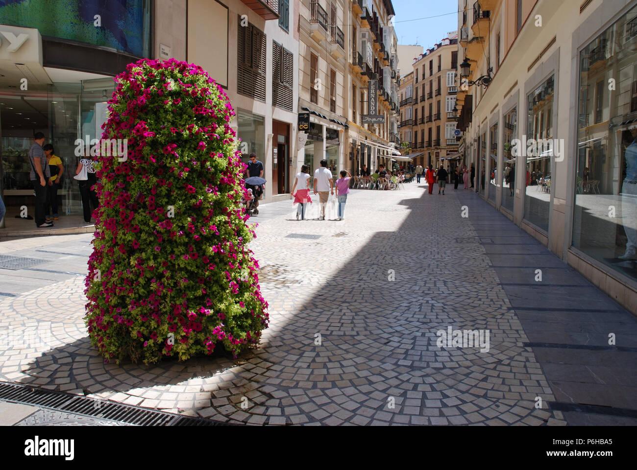 Calle peatonal. Málaga, España. Imagen De Stock