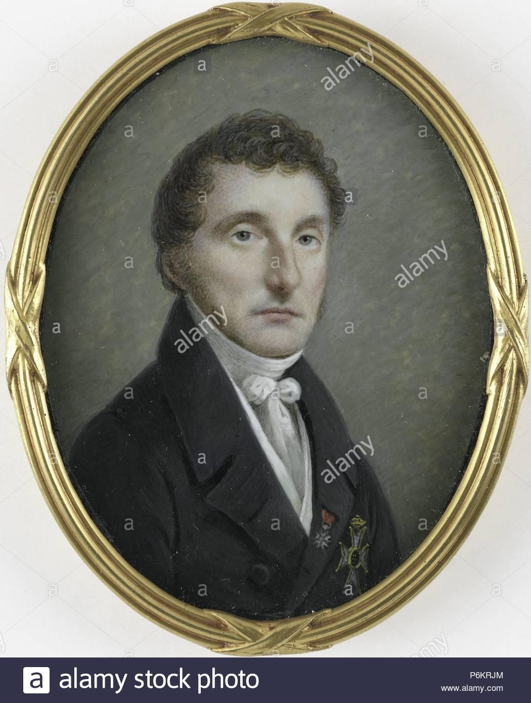 Pieter de Riemer (1769-1831). Profesor de Obstetricia, cirujano consultor del rey Guillermo I, Johannes Hari (I), 1800 - 1831. Imagen De Stock