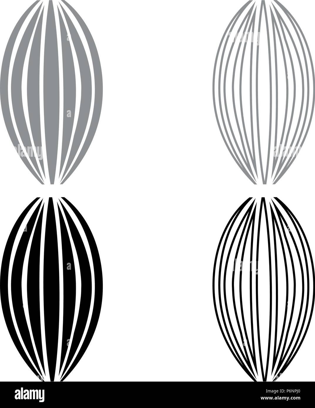 Conjunto de iconos muscular ilustración en color negro gris tipo plano simple imagen Imagen De Stock