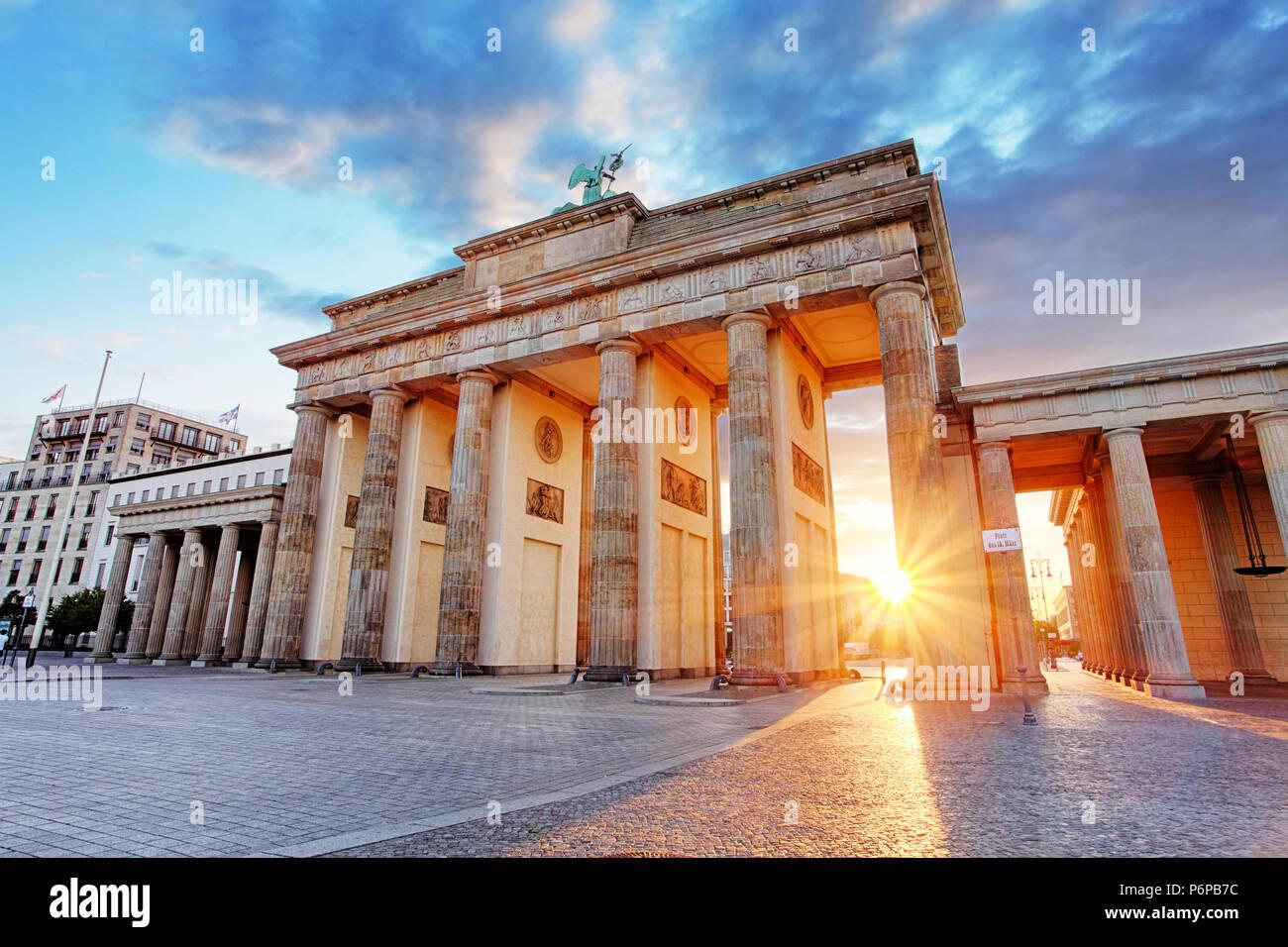 Berlín, la puerta de Brandemburgo, Alemania Imagen De Stock