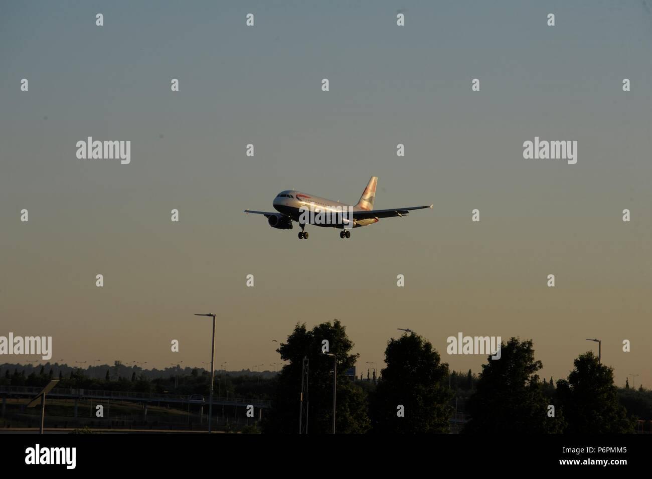 El aeropuerto de Heathrow Imagen De Stock