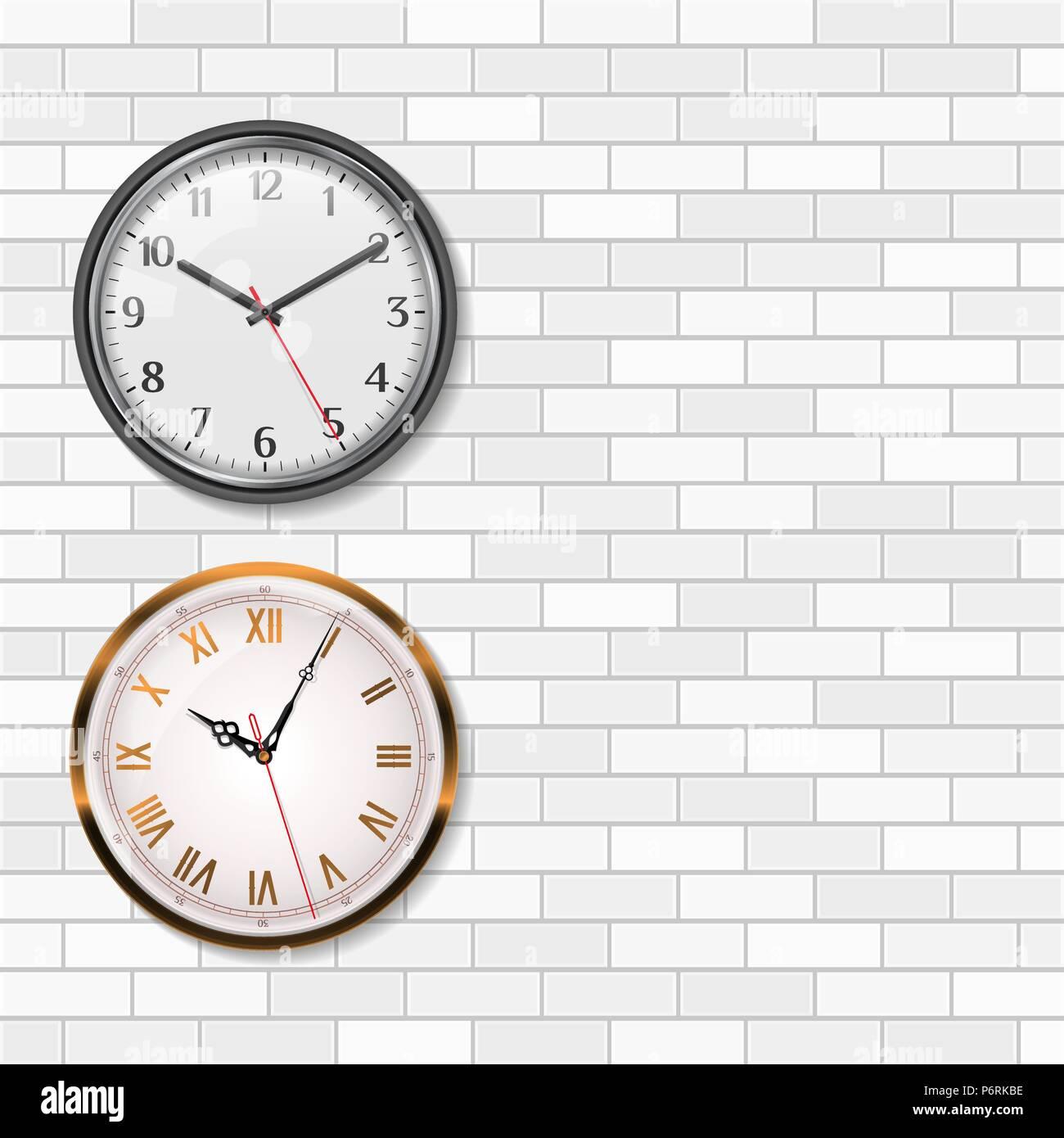 7f408d014005 Oro antiguo reloj de pared y mesas de cuarzo Reloj de pared analógico de  pared de