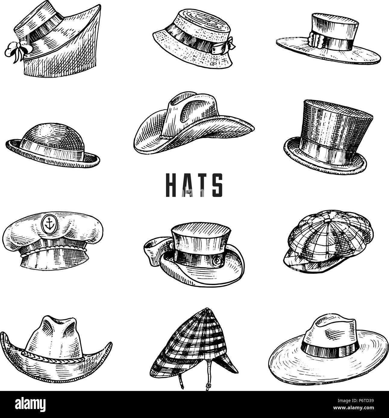 Cosecha de verano Colección de sombreros para hombres ef08e30fdbd