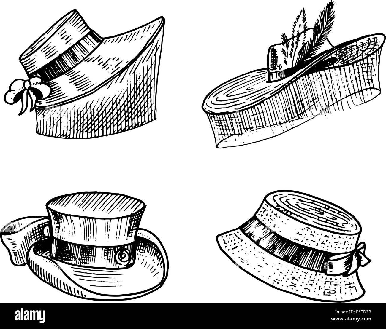 Cosecha de verano Colección de sombreros para la mujer elegante ... a351579f893