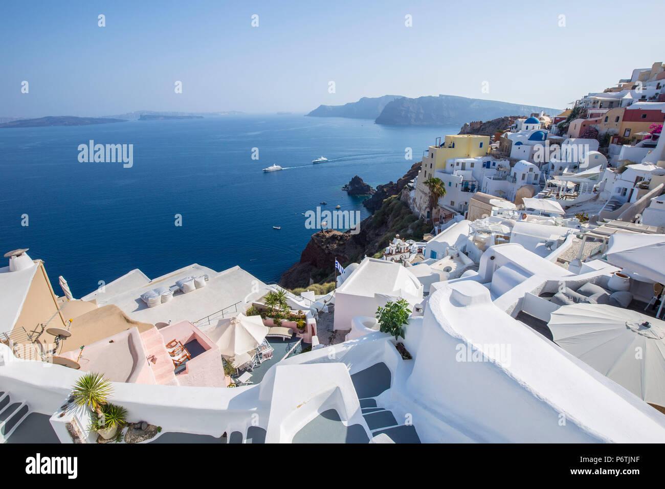 Oia, Santorini (Thira), Islas Cícladas, Grecia Imagen De Stock