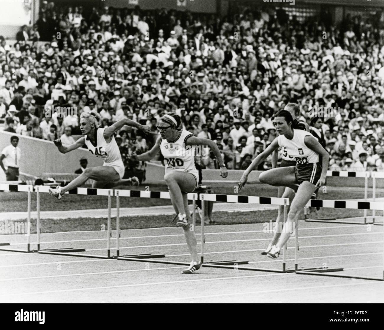 100 Metros Con Vallas En Mexico 68 Juegos Olimpicos Mexico 1968