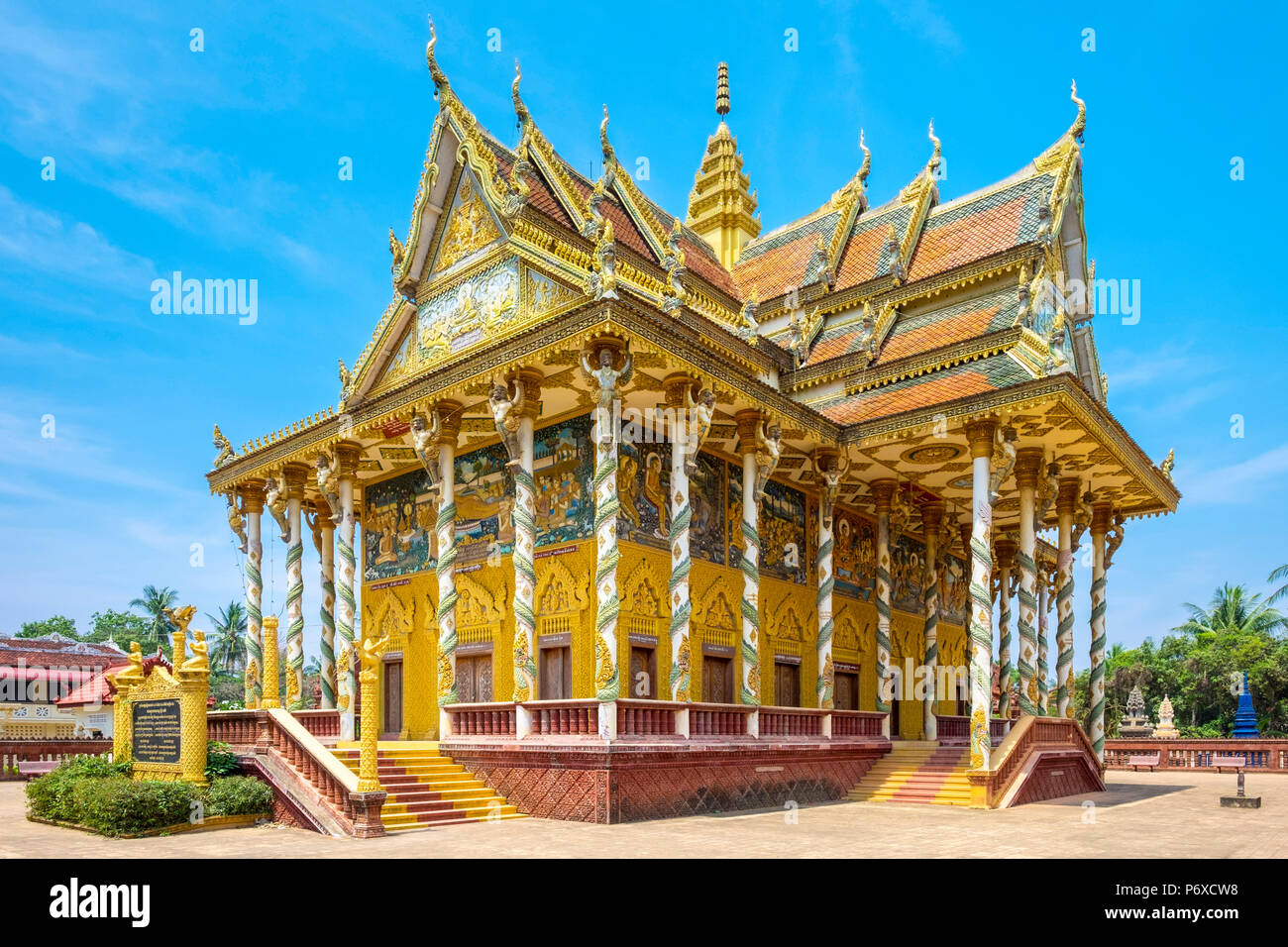 Kan Doeng (Wat Kan Doeng Pagoda), Battambang, Camboya Foto de stock