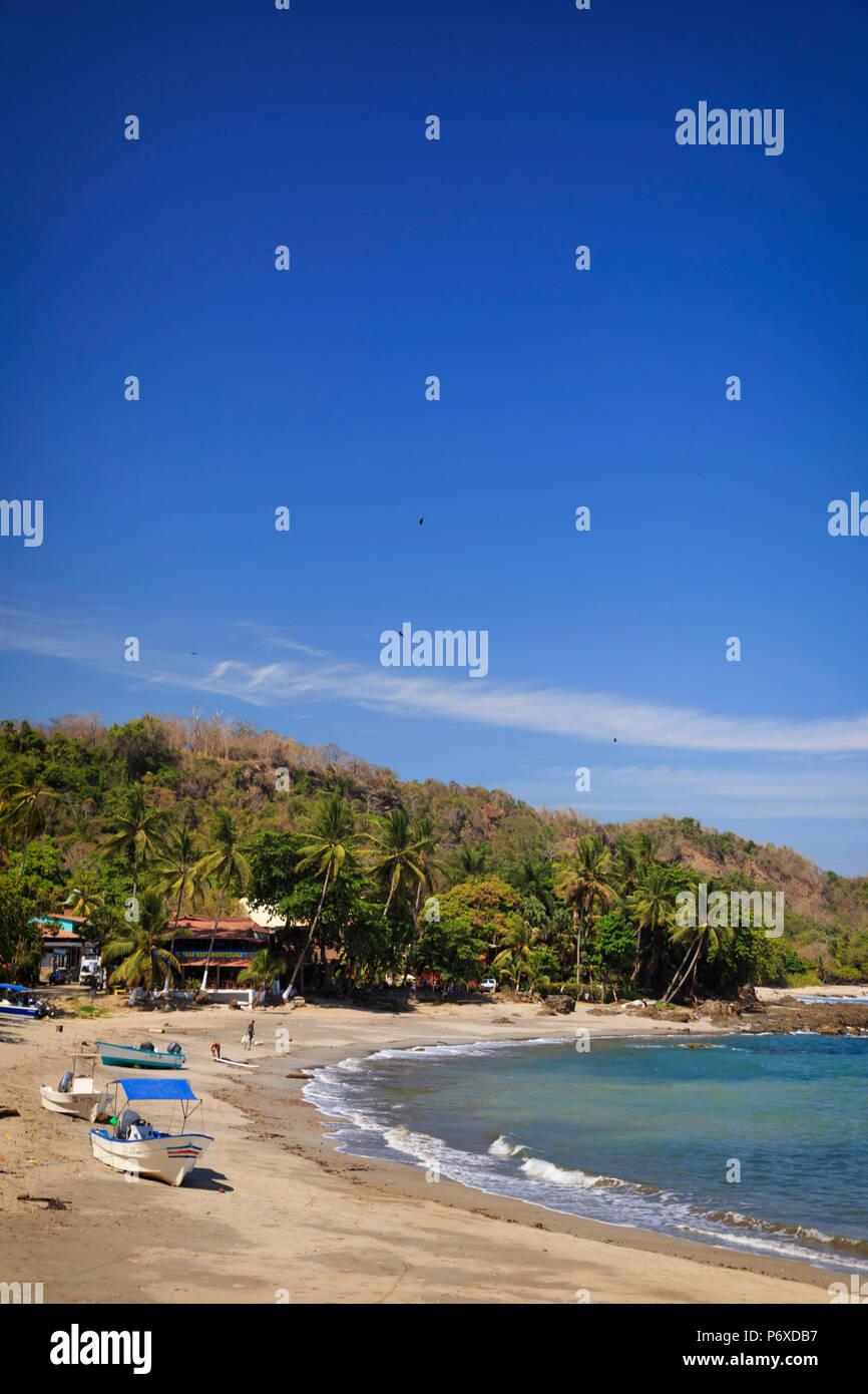 Costa Rica, Guanacaste, Península de Nicoya, Montezuma, Montezuma Beach Imagen De Stock