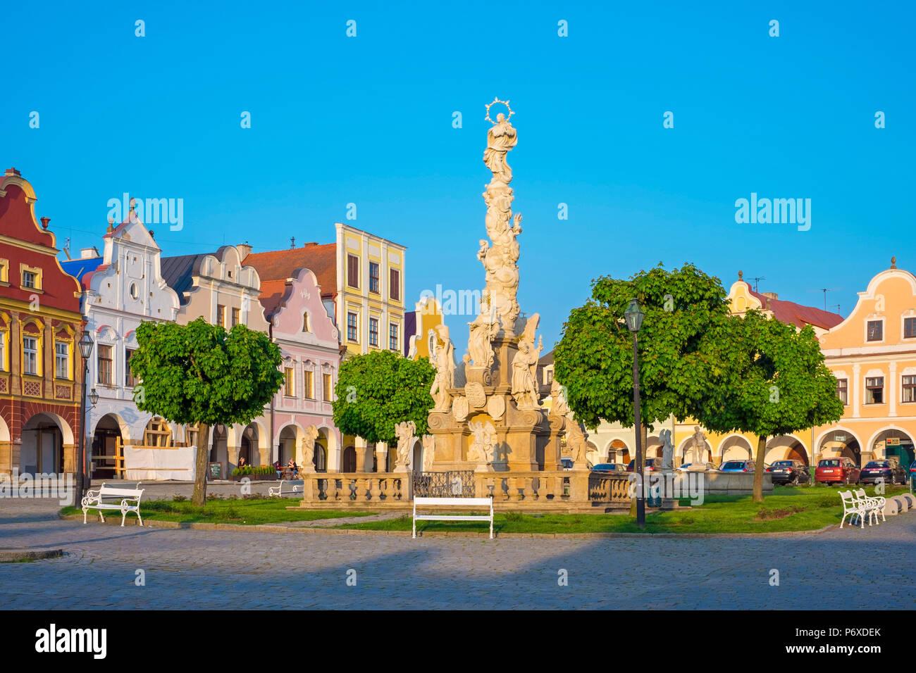 República Checa, región de Vysocina, Telc. Imagen De Stock