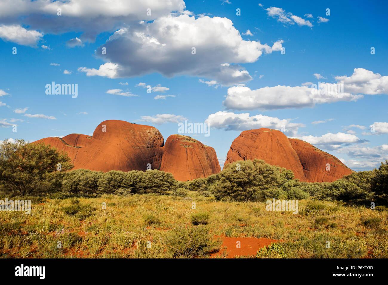 Kata Tjuta Centro Rojo. El Territorio del Norte, Australia Imagen De Stock
