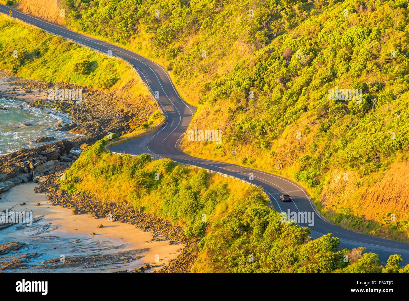 Great Ocean Road, Victoria, Australia. Un alto ángulo de visualización al amanecer. Foto de stock