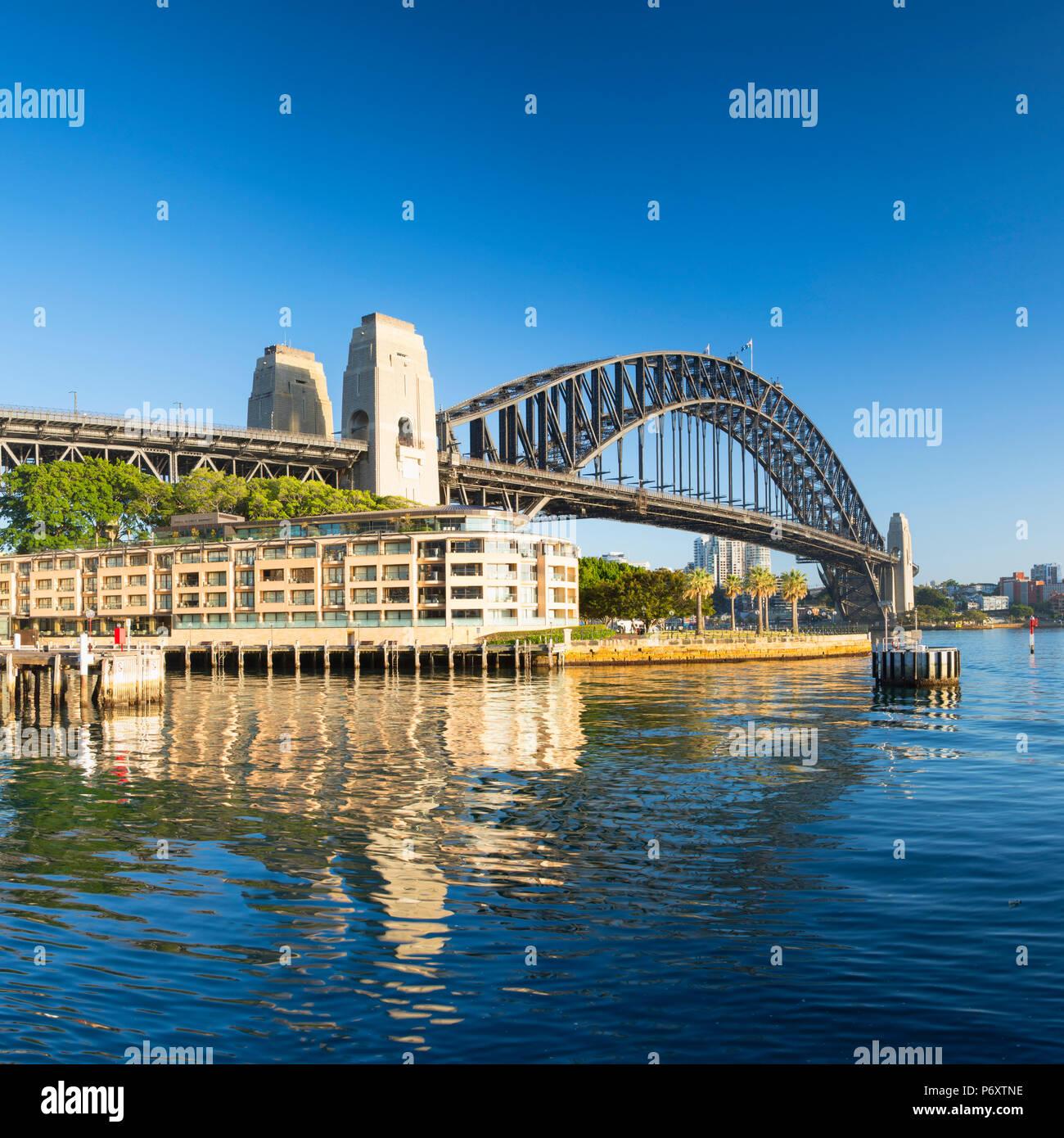 El Puente del Puerto de Sydney, Sydney, New South Wales, Australia Foto de stock