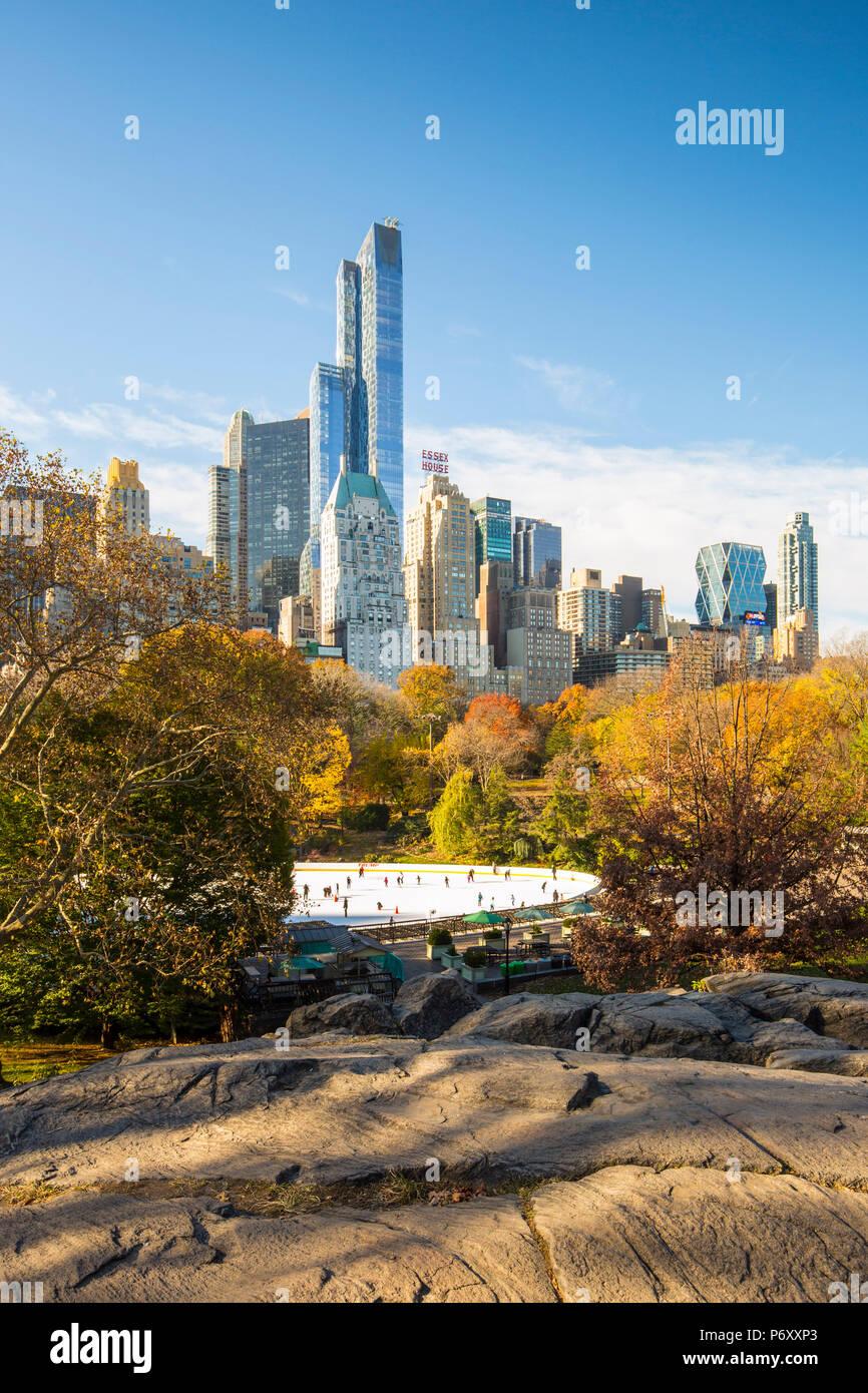 Central Park, Manhattan, Ciudad de Nueva York, EE.UU. Foto de stock