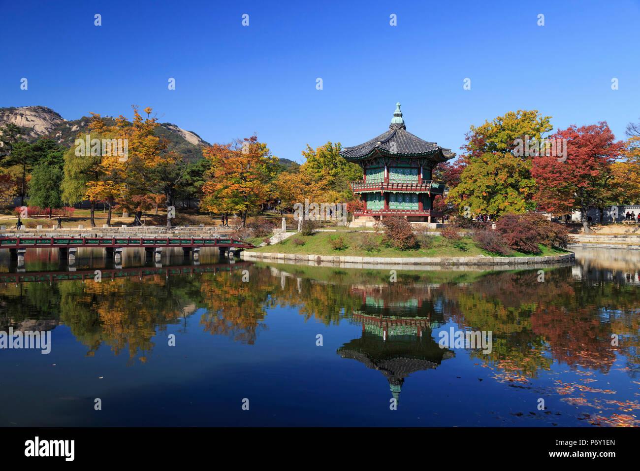 Corea del Sur, Seúl, Palacio Gyeonbokgung Imagen De Stock