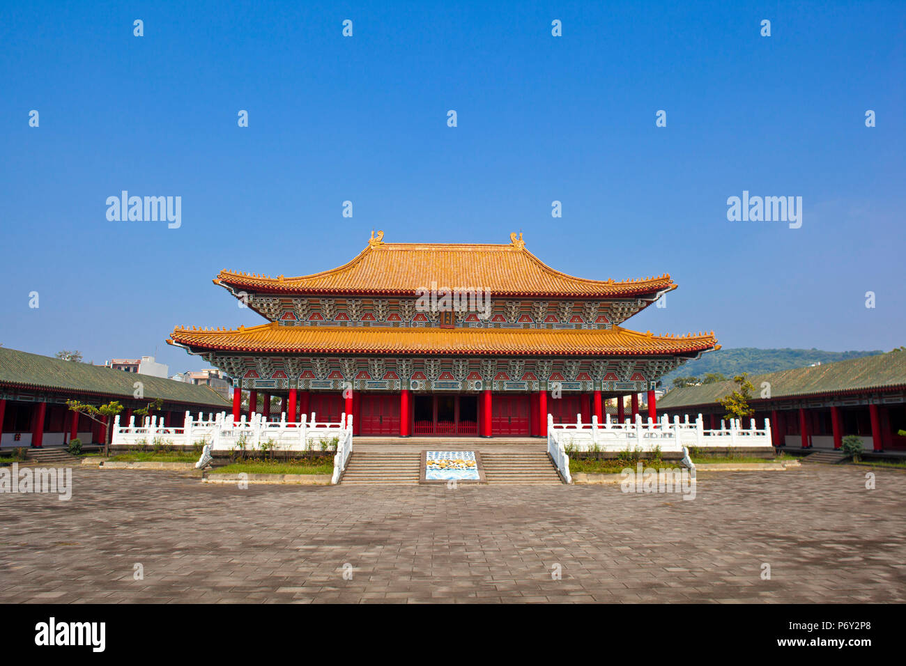 Taiwán, Kaohsiung, Lotus Pond, el templo de Confucio Zuoying Imagen De Stock