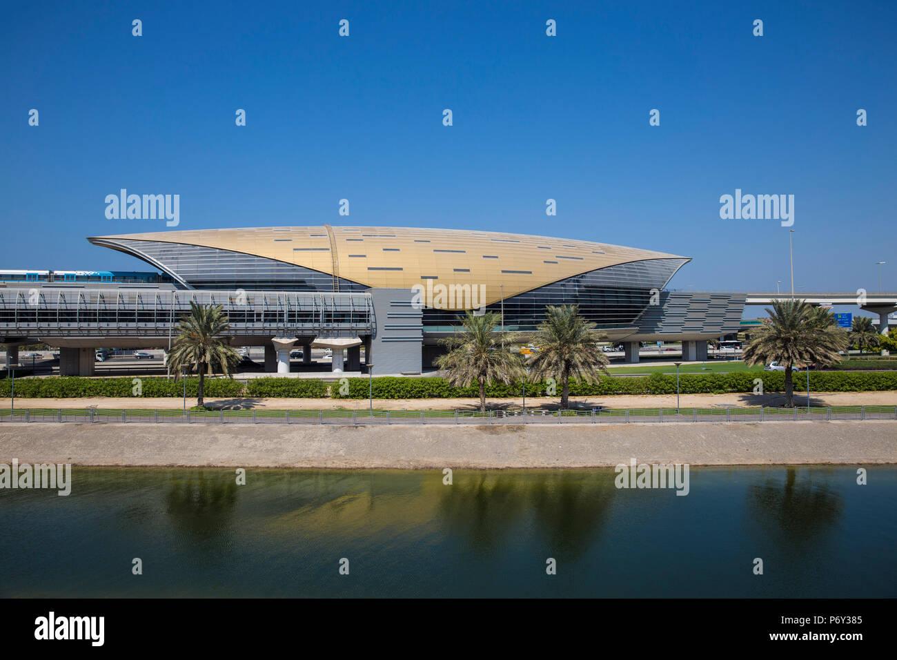 Emiratos Árabes Unidos, Dubai Mall de los Emiratos, estación de metro Imagen De Stock