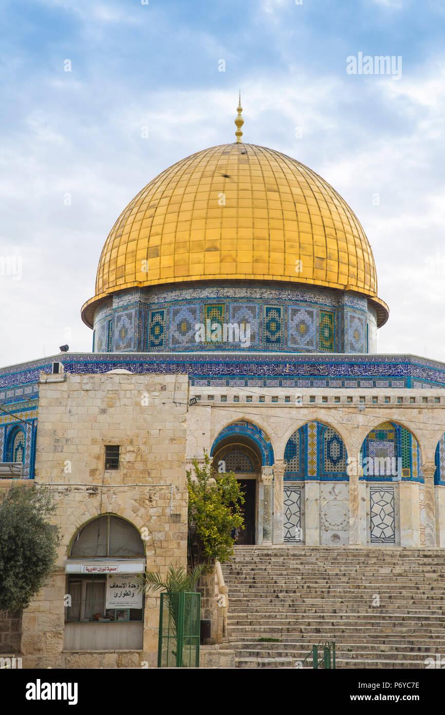 Israel, Jerusalén, el Monte del Templo, la cúpula de la roca Imagen De Stock