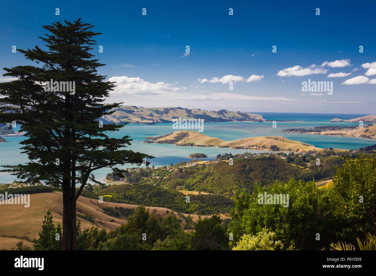 Nueva Zelanda, Otago, Isla del Sur, la Península de Otago, paisaje peninsular Foto de stock