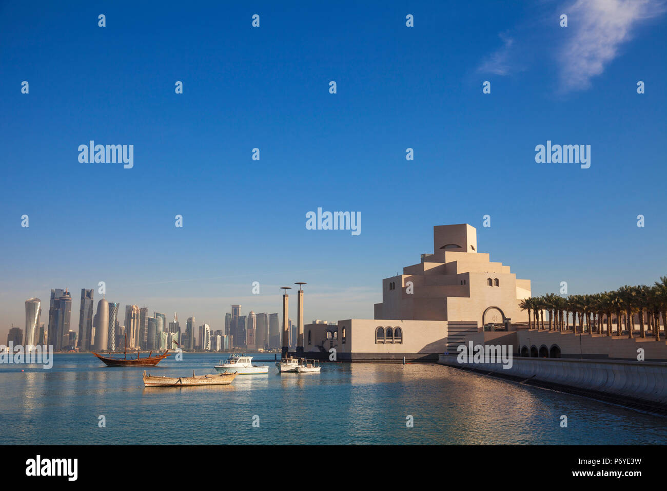 En Doha, Qatar, el Museo de Arte Islámico Imagen De Stock