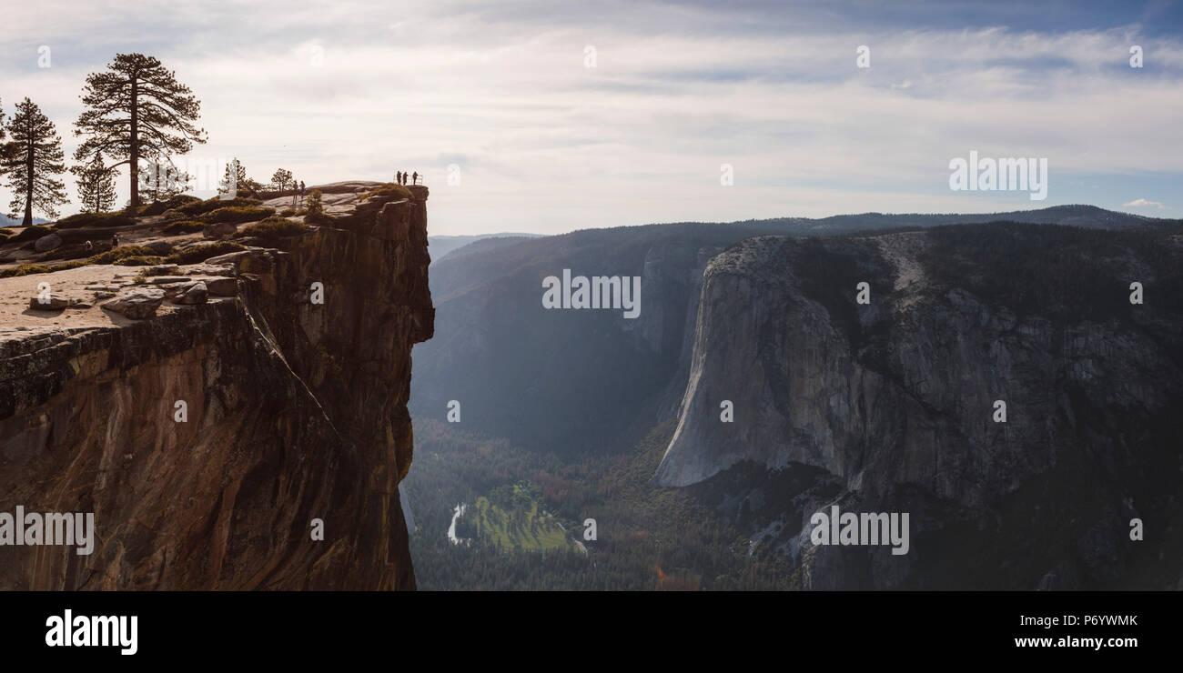 Taft point, el Parque Nacional Yosemite, California, EE.UU. Imagen De Stock