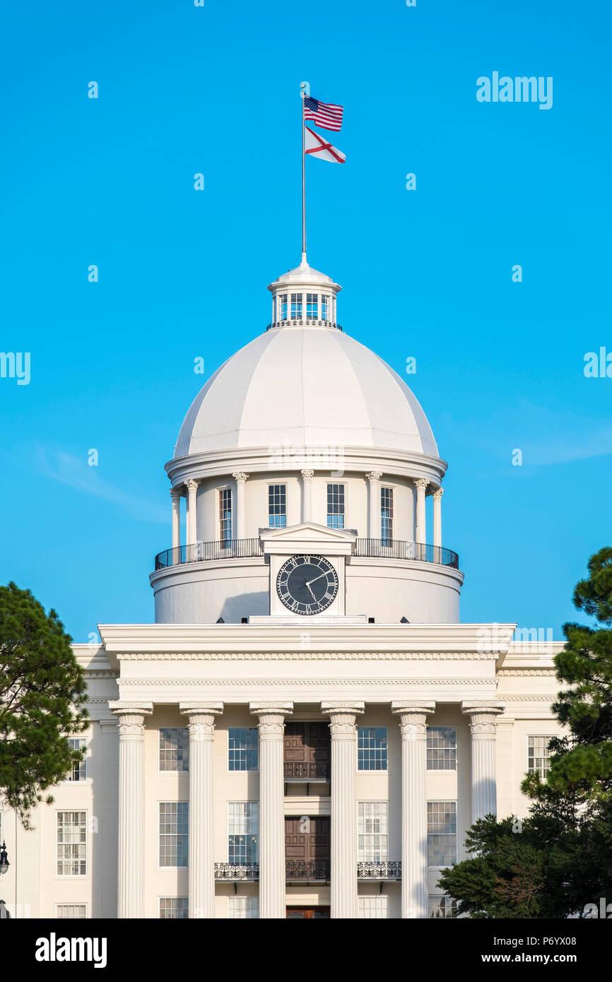 """Estados Unidos, Alabama, Montgomery. El edificio del Capitolio del Estado de Alabama, ex Primer Capitolio confederado, construida 1850â€""""51. Foto de stock"""