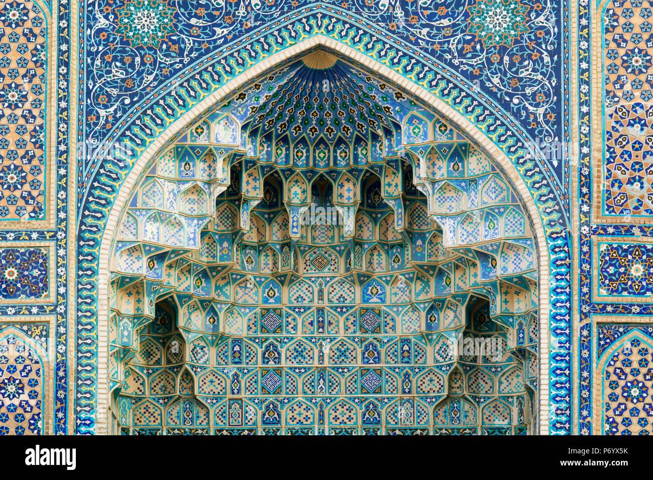 El Gur-e Amir mausoleo del conquistador asiático Timur (también conocido como Tamerlán, 1336-1405). Tiene un lugar muy importante en la historia de la arquitectura Persian-Mongolian. Un sitio de Patrimonio Mundial de la Unesco, Samarcanda. Uzbekistán Imagen De Stock