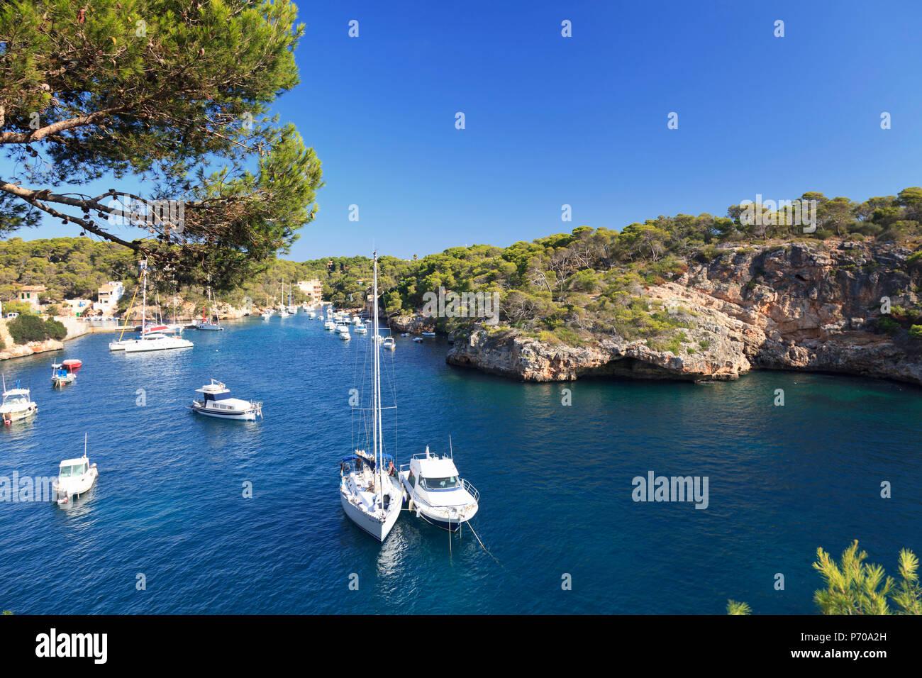 España, Islas Baleares, Mallorca, Playa de Cala Figuera Imagen De Stock